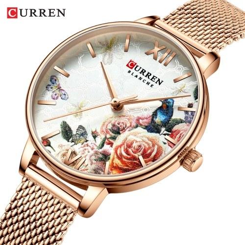 CURREN 9060 Роскошные повседневные бизнес кварцевые женские часы фото