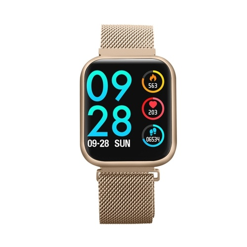 1.3 Inch Touch Smart Watch with Steel and Replaceable TPU Band