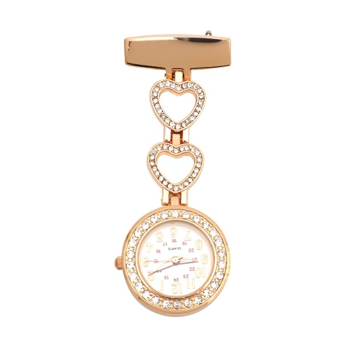 Значок медсестры с отворотом, часы-брелок, клипсы, алмазные подвесные кварцевые часы с сердечком, карманные часы Chian Doctor, для медсестер, врачей, мужчин, женщин