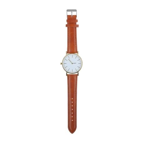 Stylish Minimalist Men Women Dress Wristwatch Unisex Analog Quartz Watch Elegant Gentleman Ladies Casual Watch