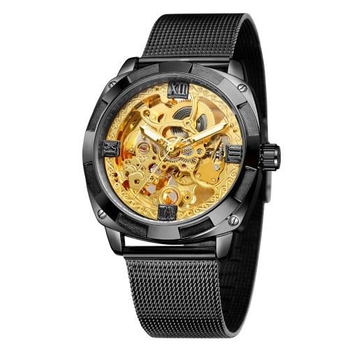 Mechanical Watch Men's Stainless Steel Automatic Mechanical Watches 30M Waterproof Business Wristwatch