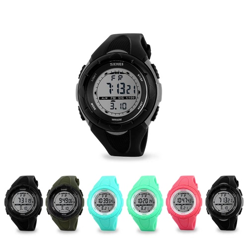 SKMEI Fashion Brand 5ATM Waterproof Fashion Children LCD Digital Stopwatch