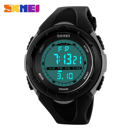 SKMEI marca de moda a prueba de agua 5 ATM niños de la manera LCD digital cronómetro cronógrafo alarma de la fecha Casual reloj de pulsera deportivo