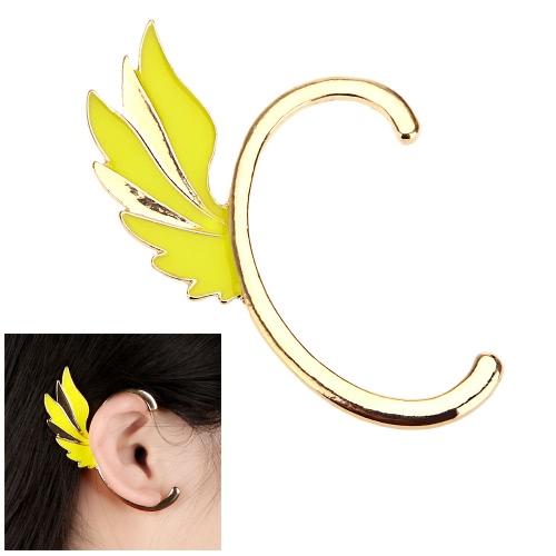 Moda aleación plateado hada Punk ala oreja brazalete Clip gancho Stud pendientes accesorio de la joyería
