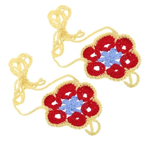 Algodón hilo ganchillo pie cadena pulsera tobilleras coloridas flores descalzo sandalia de la playa # 1