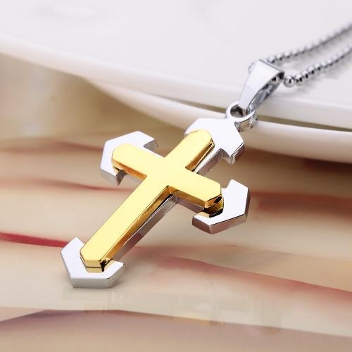 Moda personalizada Cruz colgante collar cadena hombre Punk Retro Vintage Womem joyas accesorio