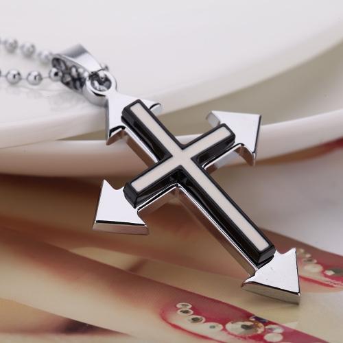 Mode, personalisierte Kreuz Anhänger Halskette Kette Vintage Retro-Punk-Mann Womem Schmuck Zubehör