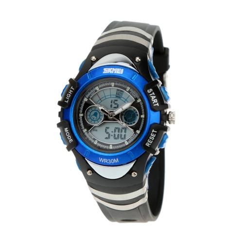 SKMEI moda hora Dual electrónico múltiple funcional reloj reloj de pulsera deportes correa de silicona resistente al agua Casual para niños
