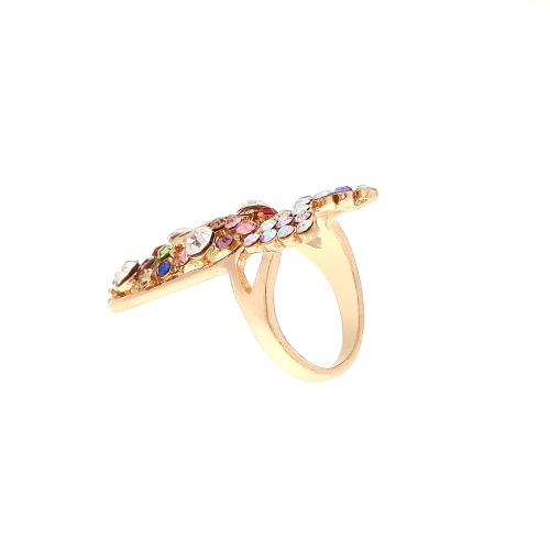 Image of 1pc Fashion Nail Jewelry Bowknot Crown Crystal Finger Nail Art Ring Beauty Nail Art Charms