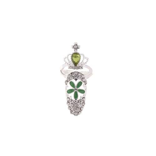 Encantos de 1pc Moda uñas joyería Bowknot corona cristal dedo anillo arte belleza uñas uñas