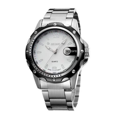 SKONE hochwertige Legierung Armband wasserdicht Quartz Männer beobachten heißen Verkauf Mode präzise Armbanduhr mit Kalender