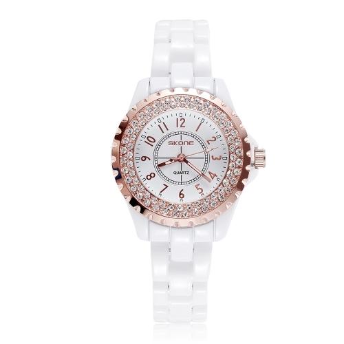 CHICA moda reloj pulsera impermeable cerámica