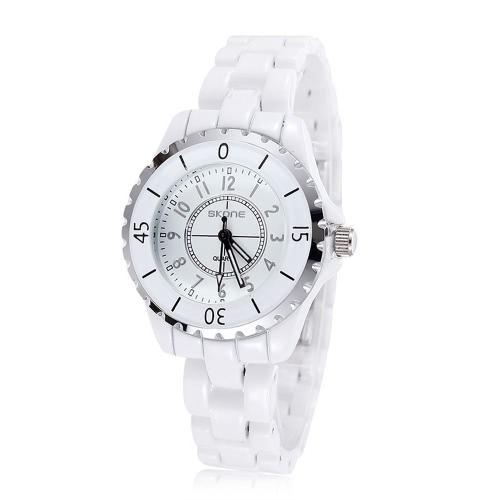 SKONE splendido elegante analogico al quarzo orologio cinturino in ceramica resistente all'acqua preciso orologio da polso per donna