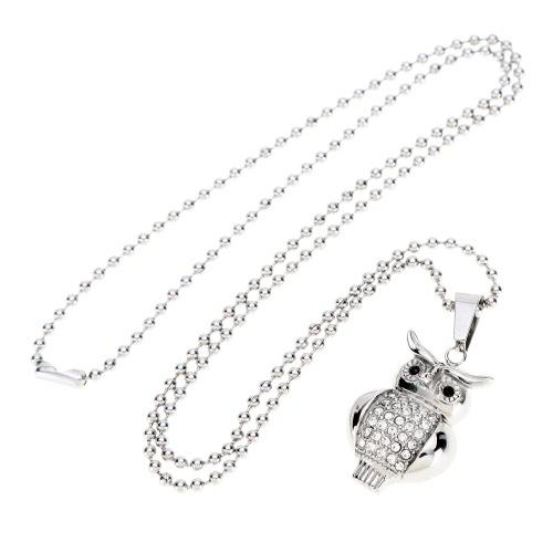 Shinning Fashion Rhinestone Sowa Pierścień Naszyjnik Naszyjnik Biżuteria