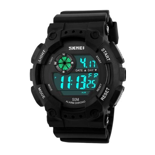 SKMEI haute qualité 5ATM étanche montre-bracelet Fashion activités de plein air militaire Cool montre de sport avec fonction d'alarme de temps Split semaine