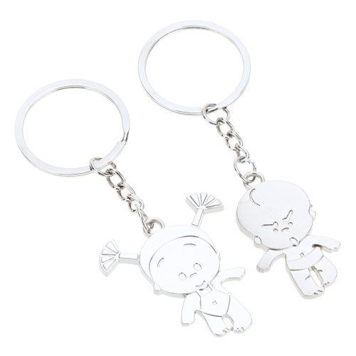 Fashional Jewelry Classical Couple Pendant Key Ring Key Chain Year Dolls for Lovers