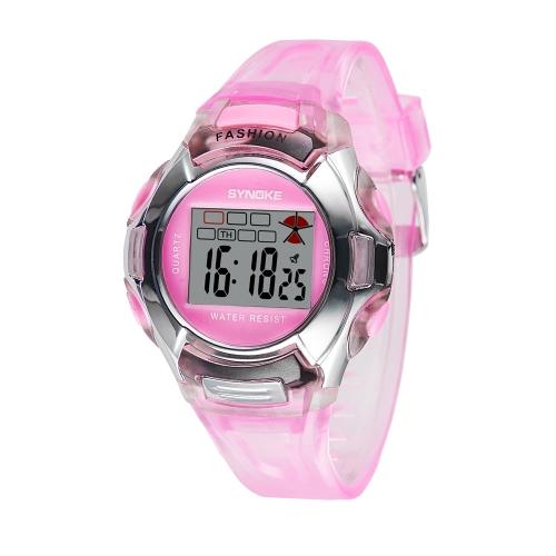 SYNOKE moda niña estudiante deportes reloj multifuncional Digital niños niños reloj de pulsera con alarma a prueba de agua nocturna