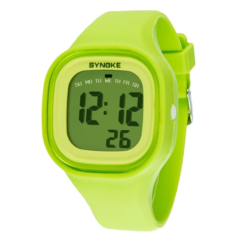 SYNOKE Fashion coole wasserdicht Jelly Student extrem weiches Silikon Watch Band Frauen Männer Sport Armbanduhr