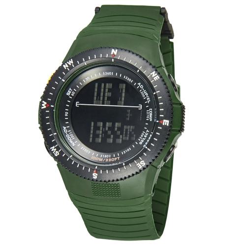 SYNOKE Cool Digital deportivo resistente al agua reloj de pulsera para hombres mujeres segundo visualización de la hora zona horaria
