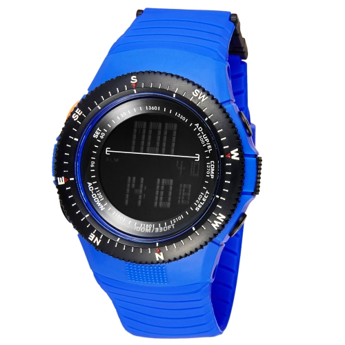 SYNOKE Cool Digital Water Resistant Sports Wristwatch for Men Women Second Timezone Time Display