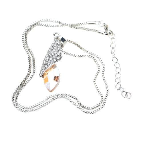 Ojo de caballo ligero desierto en forma de colgante joyería del Rhinestone collar cadena lujo precioso para niña mujer