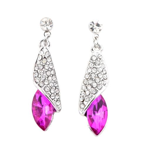 Lujo Retro desierto luz mar pensado Rhinestone cristal pendiente joyas accesorios para mujer chica