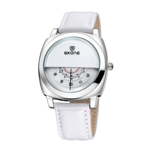 SKONE 5017 Half Dial Design Quartz Watch