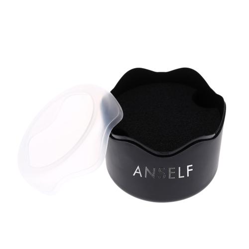 Anself моды круглые пластиковые тонкие Часы наручные часы контейнер Box с губкой подушки многофункциональный хранения дела