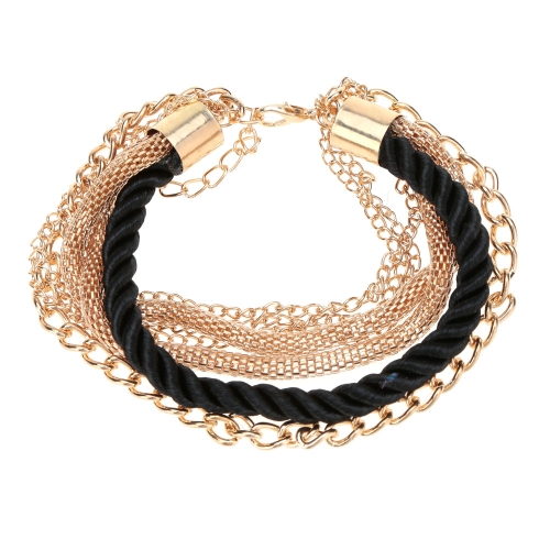 Fashional New Jewelry Rope Chain Decoration Bracelet Six Colors for Women Girls