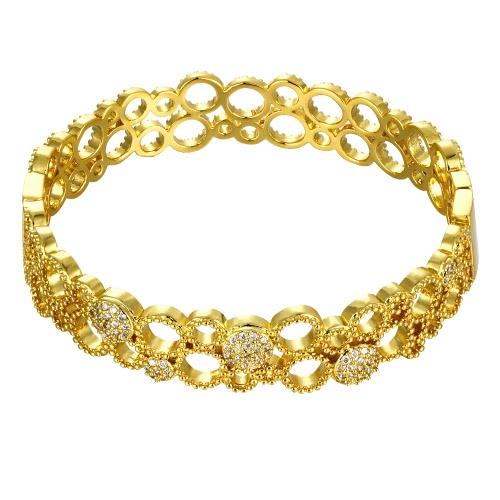 Bransoleta Bransoleta Bransoleta Bransoleta z Złotym Zbrojem Z Złotym Różanym Złocistym Fashional Akcesoria dla Kobiet