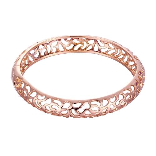 Agua hueco gotas latón pulsera una apertura de oro y oro rosa del Fashional para mujeres