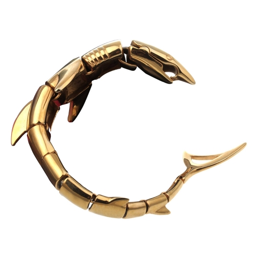 Punk Rock Style Herren einzelne Shark Armband 316L Titan Edelstahl poliert Fashional Ornamente