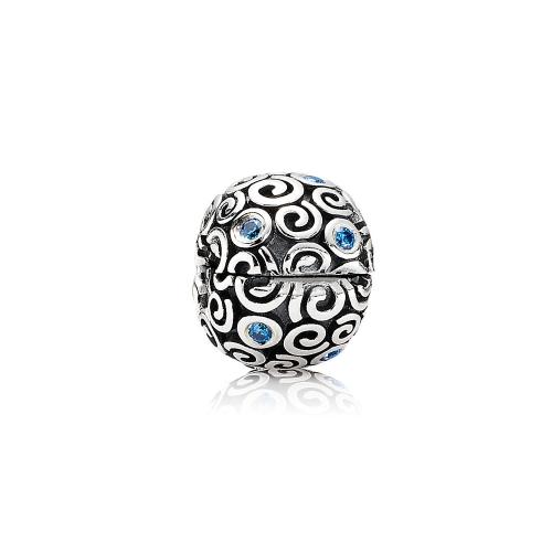 Romacci S925 Silber Clip Bead mit Wolke Muster CZ Diamant für 3mm europäischer Charm Armband DIY Frauen Schmuck