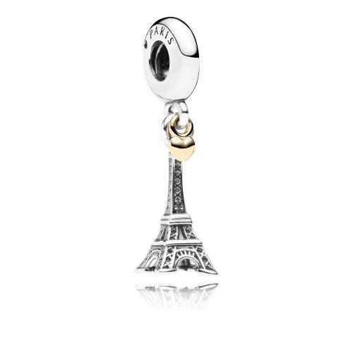 Romacci Eiffel Tower Pendant S925 Sterling Silver Fits for Charm Bracelet DIY Women Jewelry