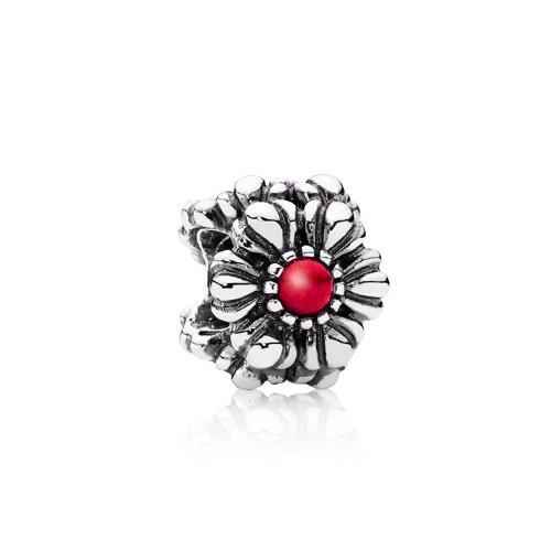 Romacci girasol encanto con diamante CZ perlas S925 plata para pulsera europea las mujeres DIY joyería