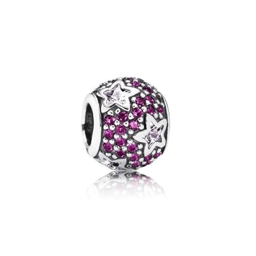 Romacci estrella CZ diamante grano S925 plata para pulsera europea las mujeres DIY joyería