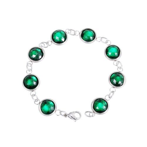 Cadena pulsera de cristal Artificial 316L titanio acero hembras caprichoso moda joyería decoraciones de la torcedura