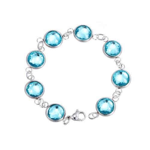 Twist Kette künstliche Kristall Armband 316L Titan Stahl trendige Frauen modisch Schmuck Dekorationen