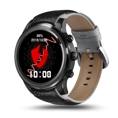 """Подержанные LEMFO Android 5.1 OS 3G Смарт-часы Телефон ПЗУ 8G + RAM 1G Nano SIM-карта 1,39 """"OLED-экран 1,3 ГГц Четырехъядерный процессор GSM + WCDMA Wi-Fi BT4.0 GPS Шагомер Пульсометр SmartWatch для Android 4.4 и iPhone IOS 8.0"""