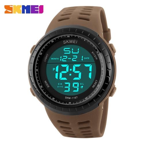 SKMEI gran 3ATM hombre resistente al agua Digital deportes reloj de pulsera buena calidad al aire libre reloj con cronómetro calendario alarma luz de fondo