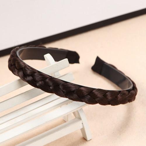 La nueva manera torció la decoración de los accesorios del pelo de las mujeres de la venda de Hairband de la trenza trenzada simple de la peluca