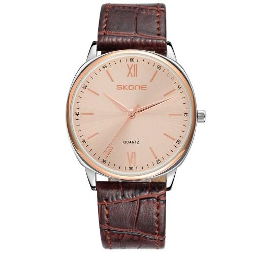 SKONE casual ultra-delgado hombres relojes elegante simple reloj de cuarzo