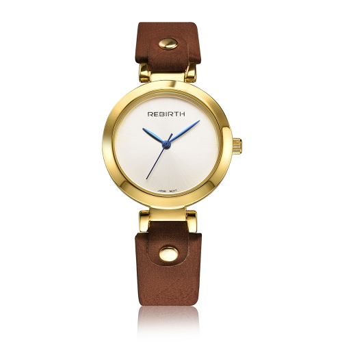 REBIRTE mujeres de moda relojes 3ATM cuarzo resistente al agua Casual mujer Simple reloj de pulsera Relogio Feminino