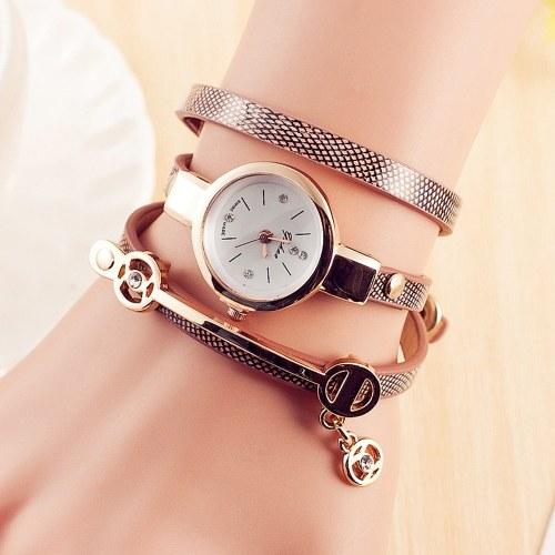 Модные женские повседневные браслеты из легкого сплава кварцевые часы