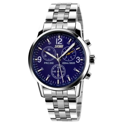 SKMEI calidad superior resistente al agua negocio reloj clásico analógico Quartz Watch de Men con perilla secundaria decorativo