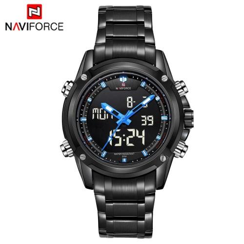 NAVIFORCE lujo marca deportes Digital analógico reloj militar 3ATM impermeable hombres luminosos de cuarzo reloj de pulsera
