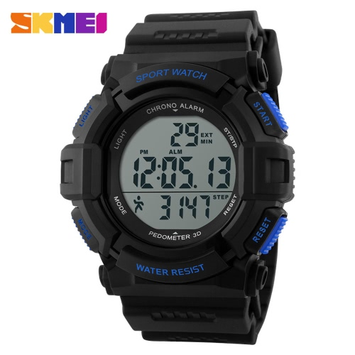 Marca hombre SKMEI 2016 corriendo podómetro Reloj LED Digital cronómetro reloj de pulsera Casual reloj militar alarma relojes de los deportes
