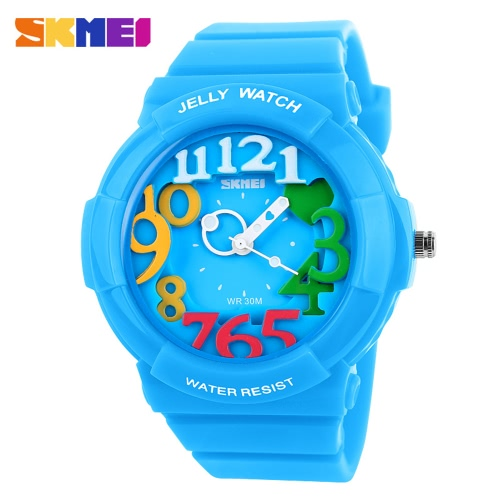 SKMEI Fashion Brand 5ATM Waterproof Quartz Wristwatches Children Boys Girls Fashion Casual Student Sport Watch