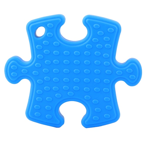 Detida a 100% Food Grade Silicone Mão Irregular Quebra-cabeça da consciência do autismo mordedor dentição Pingente de colar Chew da criança do bebê mãe de enfermagem Jóias Toy to Wear BPA DIY gratuito