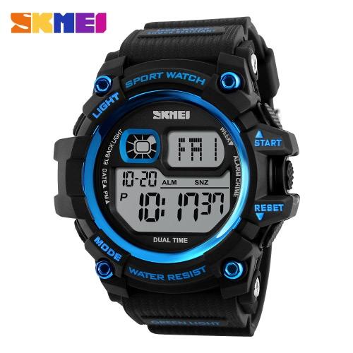 SKMEI Mode Multi-Funktions-50M Water-Proof Männer Frauen-Sport-Uhr-Hintergrundbeleuchtung Dual Time Unisex Elektronische Outdoor Casual Armbanduhr Alarm-Chronograph Countdown 4 Farben